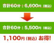 合計60分 : 5,000円